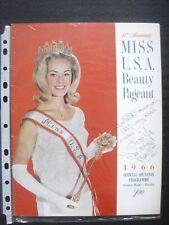 1966 MISS USA PROGRAM BOOK - autographed
