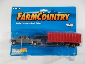 Ertl 1/64 Farm Country Dually Pickup with Grain Trailer
