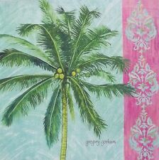 Indoor/Outdoor Tropical Palm Tree I Gorham Beach Ocean Pillow Top Fabric Panel
