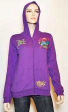 ED HARDY Crystal TRUE LOVE Girls Kids Sweatshirt  Hoodie Top Purple XL (14) Nwt