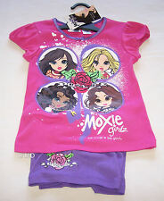 Moxie Girlz Girls Pink Purple Printed Pyjama Set Size 6 New