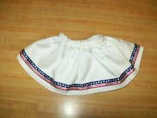 "SKIRT USA FLAG STARS+STRIPES 4TH OF JULY PATRIOTIC for 16-17"" CPK Cabbage Patch"