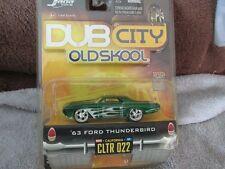 63 FORD THUNDERBIRD Dub city old skool GREEN mags jada 1/64 2006