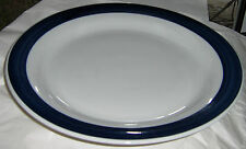 "WHITE W/COBALT EDGE TOTALLY TODAY 10"" DINNER PLATE"
