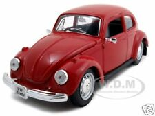 1973 VOLKSWAGEN BEETLE RED 1:24 DIECAST MODEL CAR BY MAISTO 31926