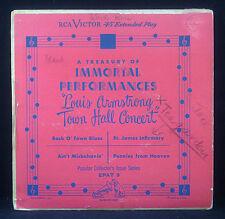 "7"" LOUIS ARMSTRONG town hall concert,conseil du trésor of immortal"