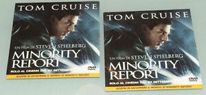 PRL) 2002 DVD VIDEO TOM CRUISE TRAILER MINORITY REPORT CD FILM CINEMA ATTORE