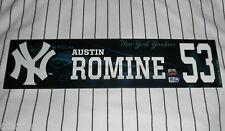 AUSTIN ROMINE MARIANO RIVERA FINAL YANKEE STADIUM HOME GAME LOCKER NAMEPLATE TAG
