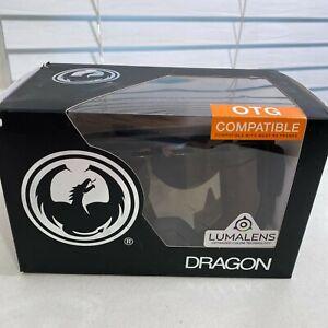 Dragon Alliance D1 Snow Goggles Black/Lumalens Silver Ion One Size OTG