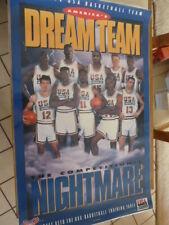 1992 KRAFT USA BASKETBALL OLYMPIC DREAM TEAM POSTER JORDAN MAGIC BIRD EWING