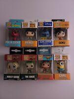 Pocket POP Keychain Lot Of 8 Collectible Vinyl Mini Figures Funko