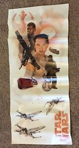 Star Wars The Force Awakens Peel and Stick Removable Wall Decals Finn and Rey