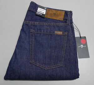 7 For All Mankind STANDARD W-30 Mens Dark Blue Denim Straight Leg Jeans USA $290