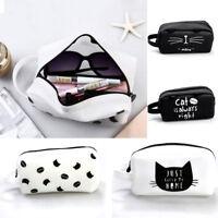 Silicone Cat Pen Pencil Bag Zipper Coin Pouch Purse Makeup Cosmetic Case
