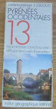 Carte IGN - Nouvel Obs, collector, 1-250 000e n°13, série blanche,  Pyrénées..2