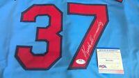 Keith Hernandez Autographed St. Louis Cardinals #37 Signed Custom Jersey PSA/DNA