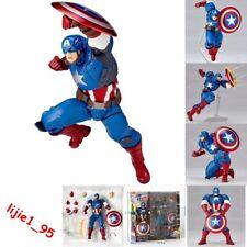 Amazing Yamaguchi Revoltech No.007 Captain America PVC Action Figure New In Box