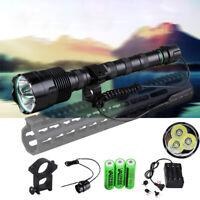Super Bright 3800 Lumen XM-L T6 3T6 LED Flashlight Torch Camping Lamp 3x 18650