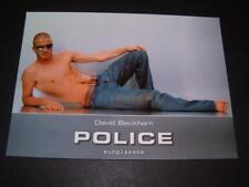 David BECKHAM OCCHIALI DA SOLE POLICE MOLTO RARO BIGLIETTO promozionale interesse gay
