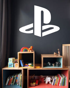 Gamers Decals Sony Playstation Logo Wall Art Stickers Vinyls Decals Kids room