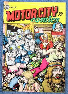MOTOR CITY COMICS #2 2nd printing April 1969 All R Crumb art & stories FN