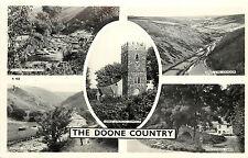 RPPC Multiview The Doone Country Oare Church Exmoor Malmsmead Farm Somerset UK