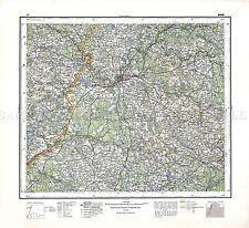 Mappa ANTICA 1930 Militare Polacco wilno area Polonia REPLICA poster stampa pam0472
