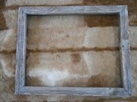 Weathered Wood,Barn Wood Canvas Picture Frames, Barn Board Picture Frames