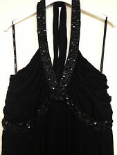 "GORGEOUS ""CITY CHIC"" BLACK BEADED DRESS ~ SIZE M/18 ~ NEW with TAGS"