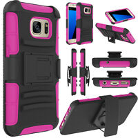 For Samsung Galaxy S7 Slide Case Cover Stand Belt Clip Shockproof Phone Holster