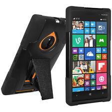 Amzer Soft + Hard Shell Hybrid Kickstand Case Combo For Nokia Lumia 830 - Black
