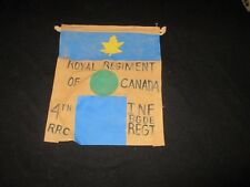 WWII CANADIAN ROYAL REGIMENT OF CANADA 4 TH RRC INF BGDE REGT CP   PENNET FLAG