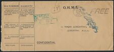CANADA 1935 OHMS FREE REGISTERED OTTAWA COVER PRINTED CONFIDENTIAL CF ELLIOTT