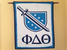 Phi Delta Theta Fraternity Delts Phis Jacquard Tapestry Wall Hanging Banner NEW