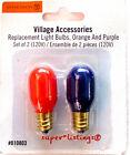 Dept. 56 Replacement Light Bulbs 120V 6W S/2 Orange & Purple Halloween 810803