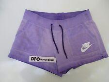 Nike Women's Sz L SOLSTICE OMBRE COTTON SHORTS - Purple 802553 547 NEW