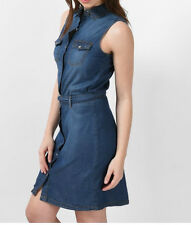 Womens High Waist Blue Denim Stretch Super SKINNY Jeggings Size 6 8 10 12 14 8