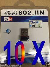LOT 10 x Mini//micro//Nano  Wireless USB WiFi Adapter LAN Adapter 802.11n//g//b BEST