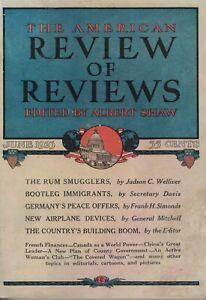 1923 Review of Reviews June - Great leader of China Sun Yat Sen; Bootlegging