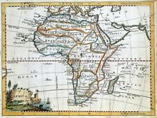 AFRICA, Thomas Jefferys original antique hand coloured map c1750
