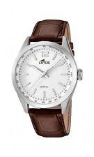 Lotus Herrenuhr Uhr Edelstahl Leder Braun Armbanduhr Quarz Analog 18149/1