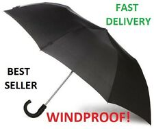 Wind Resistant Strong Auto Open Close Windproof Vented Men's Lady Black B4 16