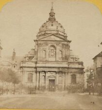 VINTAGE PHOTO LA SORBONNE ENTRANCE. ALBUMEN PROCESS.