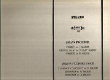 Johann Pachelbel - Johann Friedrich Fasch -- Paillard Chamber Orchest - LP vinyl