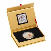 2014 Canadian 50-Cent 100 Blessings of Good Fortune - Silver-Plated Coin & Stamp