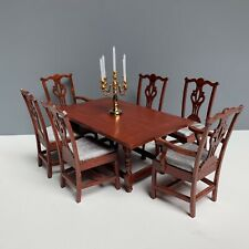 1:12 VTG DOLLHOUSE MINIATURE DINING ROOM FURNITURE SET THE HOUSE OF MINIATURES