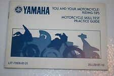 Yamaha motorcycle nos riding tips booklet route 66 xv250  1989 2uj-2819t-10