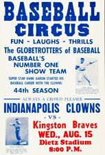 New listing NEGRO LEAGUE GAME POSTER CLOWNS VS BRAVES HANK AARON 8X10