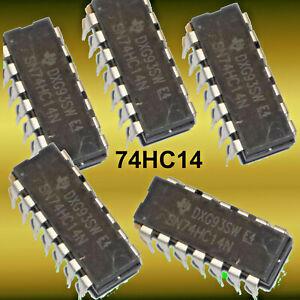 74HC14 ---  HEX SCHMITT TRIGGER, 74HC14, 5V  Stückzahl wählen
