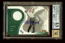 JEFF MAGGERT Tour Threads 2002 SP Game Used Golf BUYBACK Shirt Auto /13 #1923